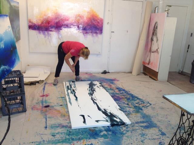 Di Taylor Artist Studio Painting Rottnest