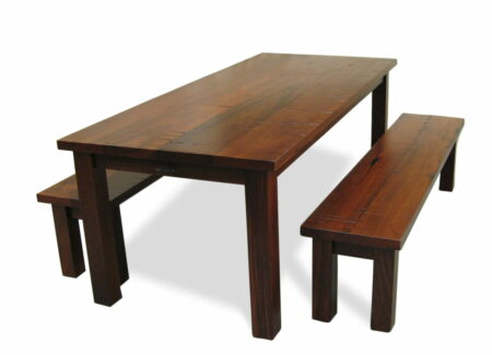 Homesteader Jarrah Bench Seats With Homesteader Dining Table