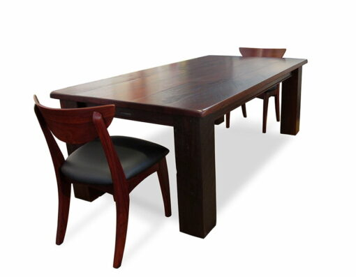 Homesteader Jarrah Rustic Dining Table With Boab Chairs