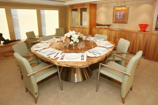 Island Dining Table On John Rothwell Boat