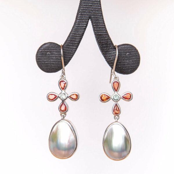 Jane Liddon Mabe Pearl Sapphire Earrings