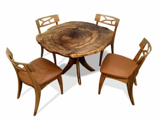 Marri Burl Kitchen Table With Filigree Chairs