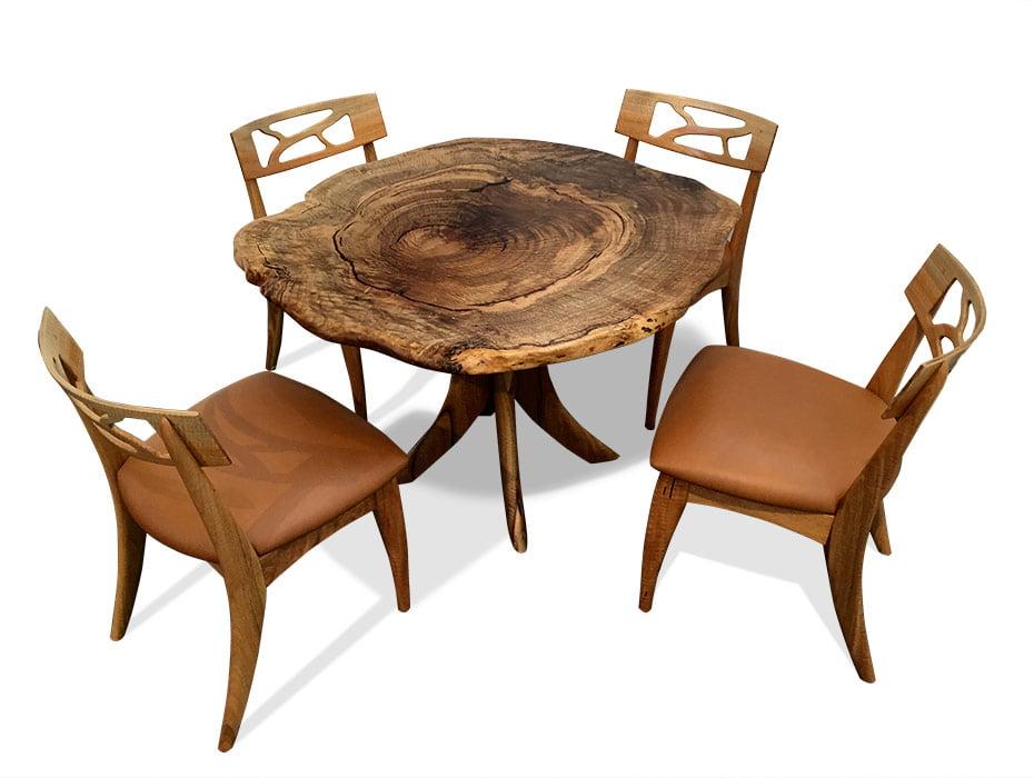 Marri Burl Kitchen Table Fine Furniture Design Fine Art : Marri Burl Kitchen Table with Filigree Chairs from www.jahroc.com.au size 930 x 700 jpeg 88kB