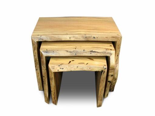Marri Slab Coffee Table Nest Front