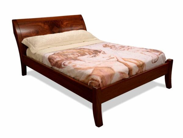 Modern Jarrah Sleigh Bed