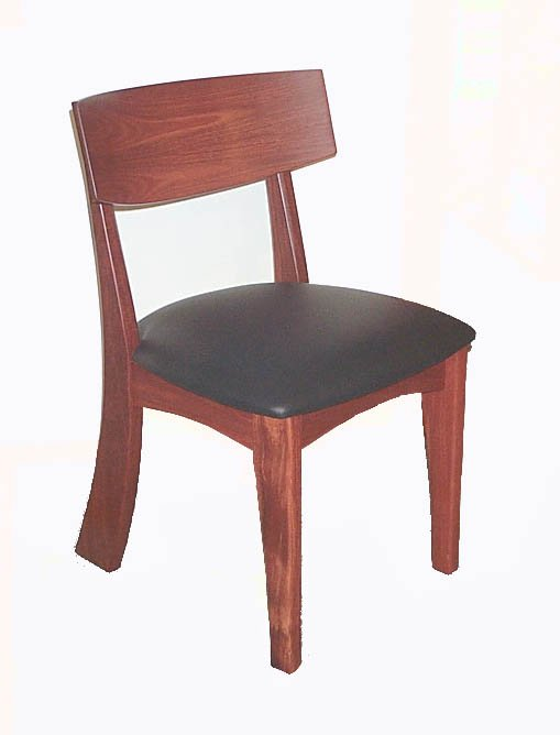 Murchison Dining Chair Square Back Jarrah Timber