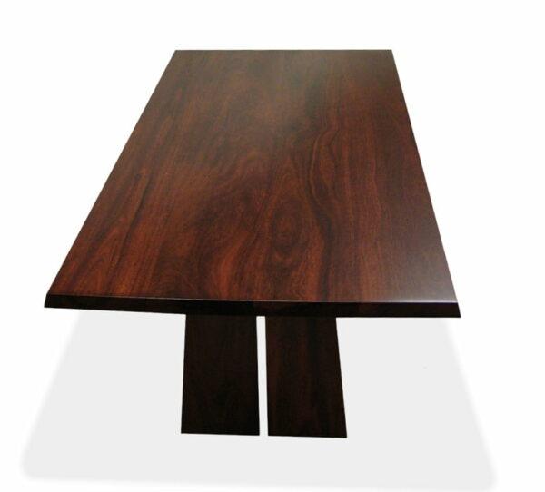 Nara Dining Table Thin Base Jarrah Timber
