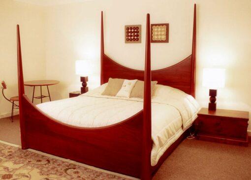 Pencil Post Bed Jarrah In Bedroom