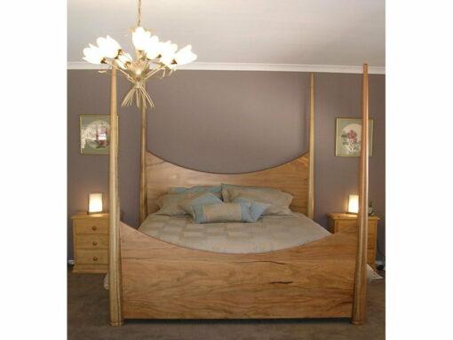 Pencil Post Timber Bed 2 Marri Timber
