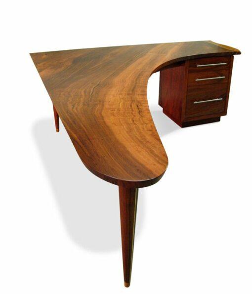 Silhouette Corner Modern Jarrah Desk