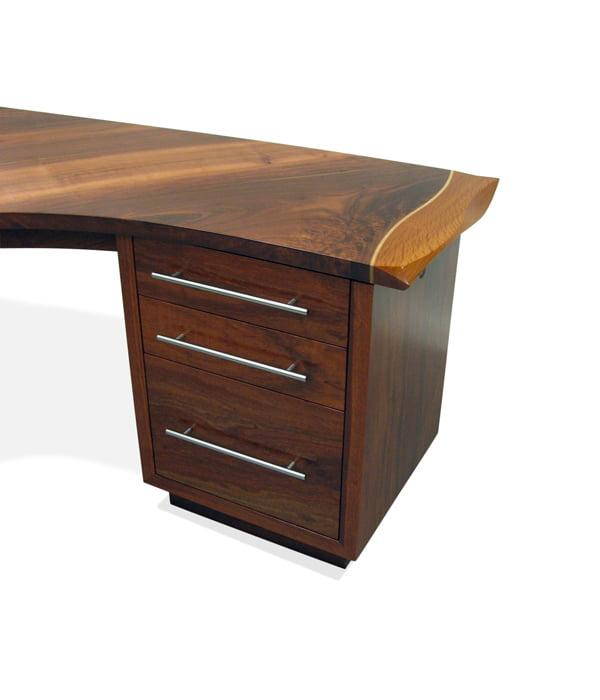 Silhouette Corner Modern Jarrah Desk Drawer Detail