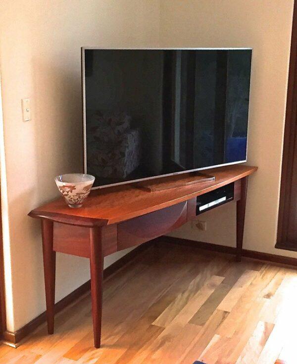 Silhouette Corner Tv Cabinet In Home