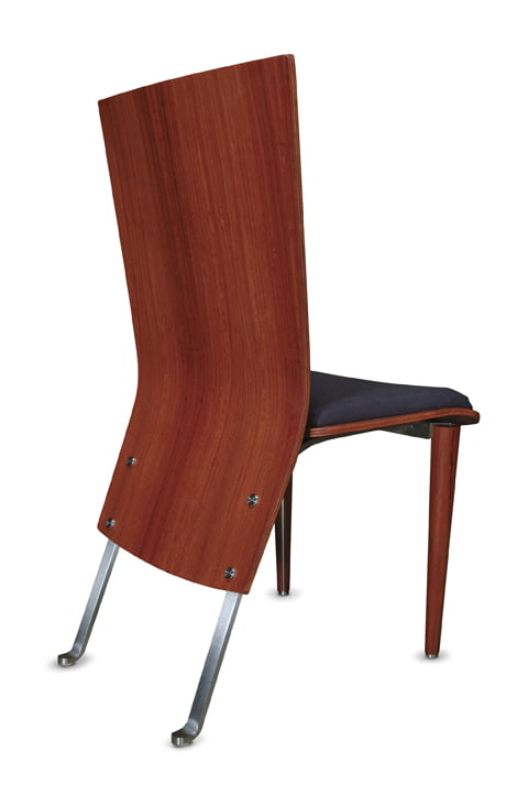Silhouette Dining Chair Jarrah back 399x600 Silhouette Dining Chair