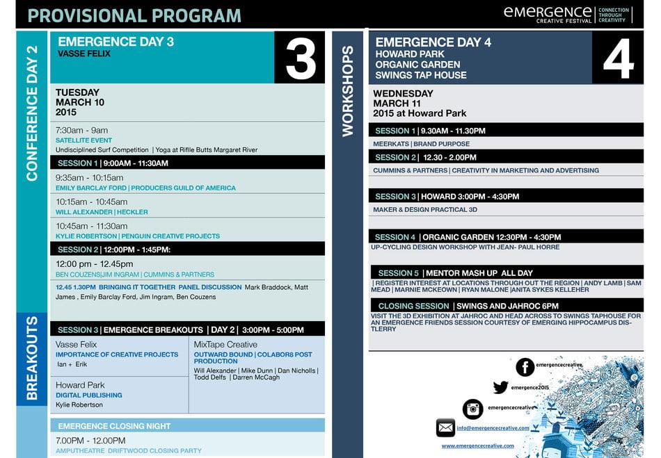 Emergence Creative Program