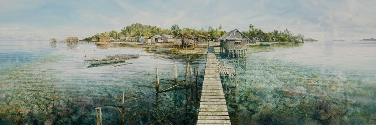 Larry Mitchell   Kris Village Fine Art
