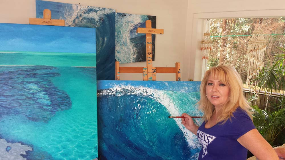 Tahli And Chelle Chelle Painting In Studio
