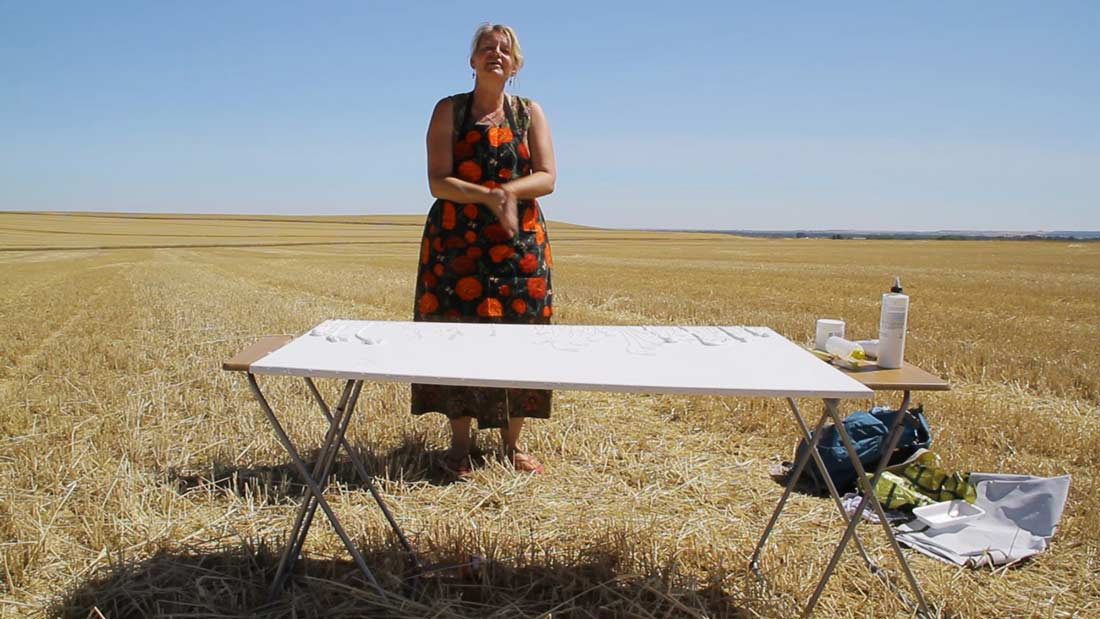 Karin Luciano On The Meseta Wheat Fields Palencia Region Spain
