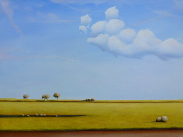 Shane Moad Clouds Above The Canola Fields 101X76Cm