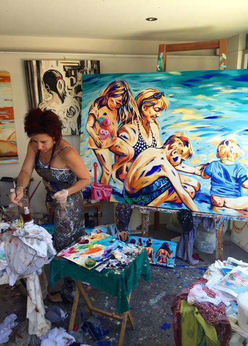Shannon Hamilton Artist Up Close And Personal In Studio 1