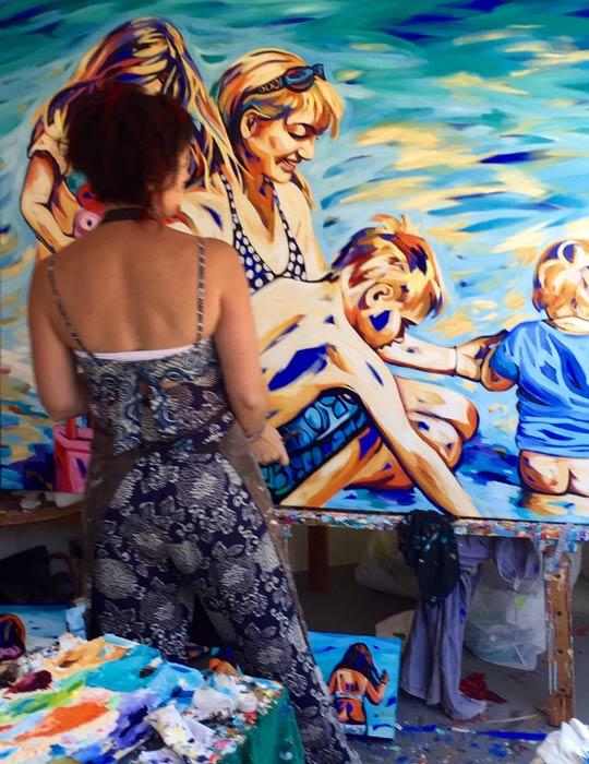 Shannon Hamilton Artist Up Close And Personal In Studio 2