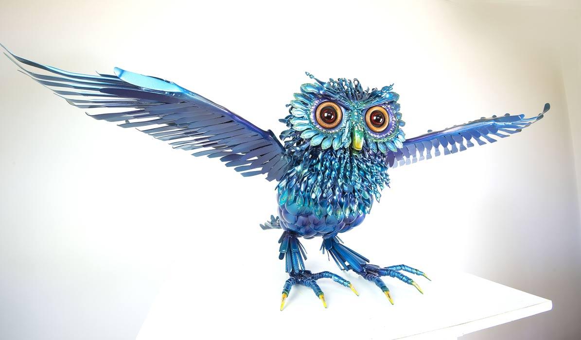 Daniel Fisher Grandfather Owl Sculpture