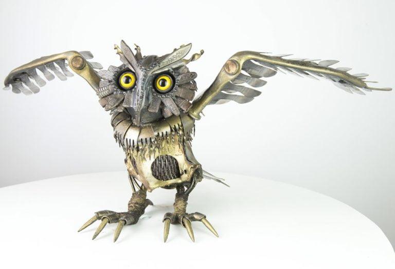 Daniel Fisher Medieval Owl sculpture 768x524