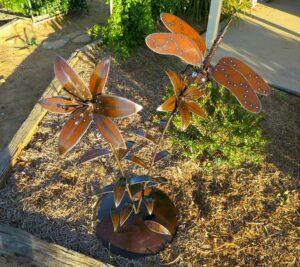Jordan Sprigg Stargazer Dragonfly Metal Sculpture 100X114X65Cm
