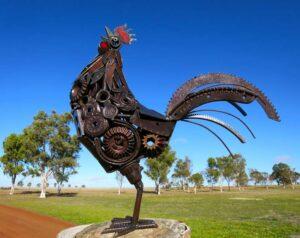 Jordan Sprigg The Early Riser Rooster Metal Sculpture