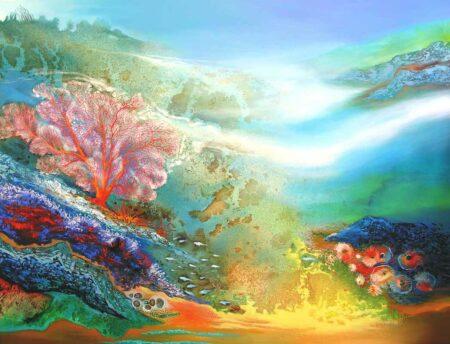 Astrid Dahl Neptunes Paradise 180x140cm