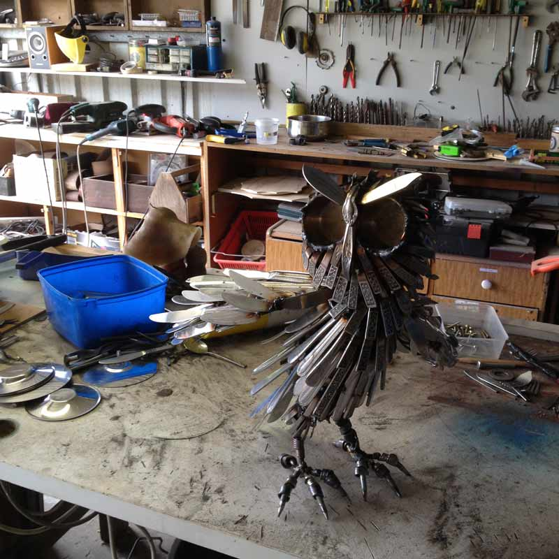Daniel Fisher Sculpture Studio Work In Progress 2