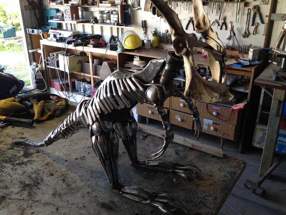 Daniel Fisher Sculpture Studio Work In Progress 3