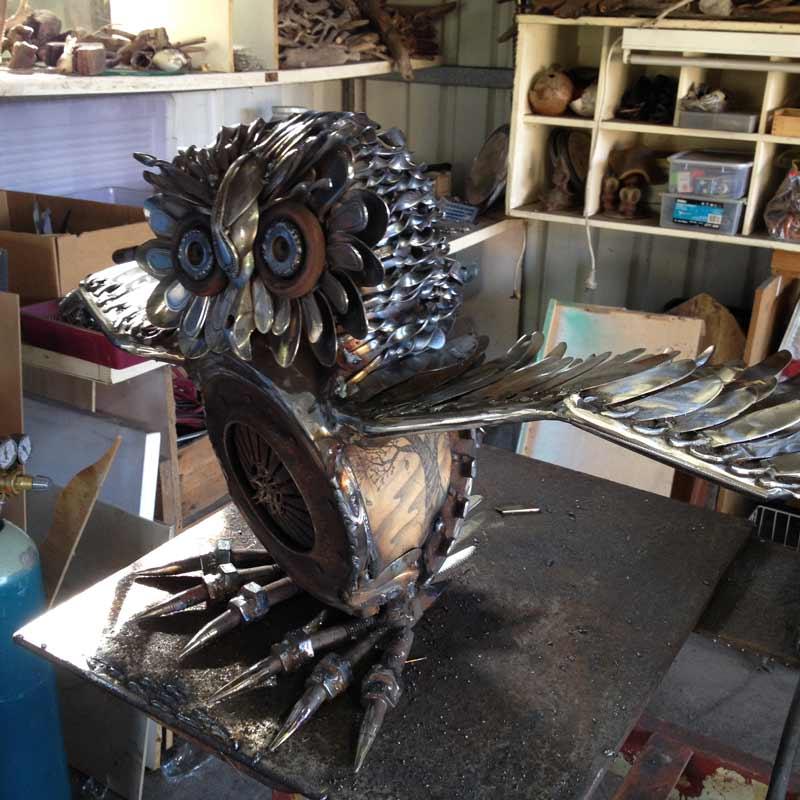 Daniel Fisher Sculpture Studio Work In Progress 7