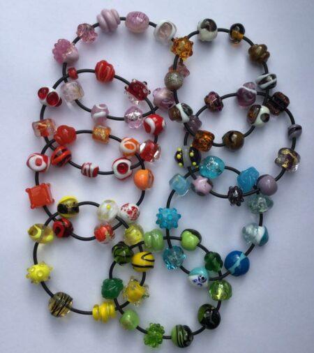 Evelyn Henschke Glass Bead Bracelets