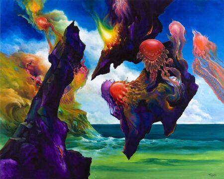 John Mcintosh Bimorphic Rockof Margrathea 152x122cm