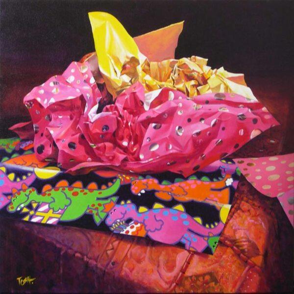 John Mcintosh Still Life With Coloured Paper 84X84Cm
