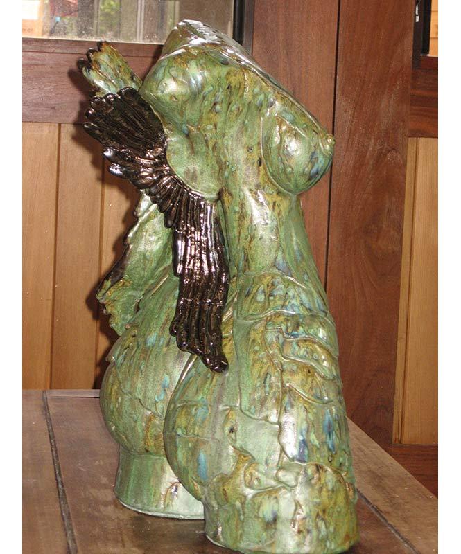 Lauren Rudd Hidden Angel Femal Torso Sculpture Back