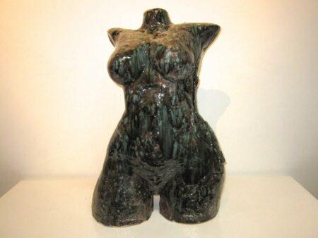 Lauren Rudd Hidden Flower Female Torso Sculpture