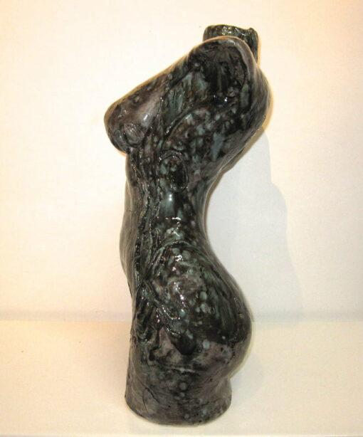 Lauren Rudd Hidden Flower Female Torso Sculpture Side