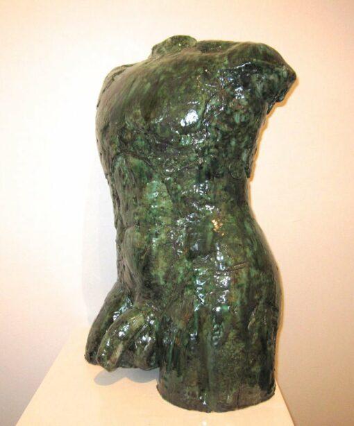 Lauren Rudd Male Gesture Torso Sculpture Front