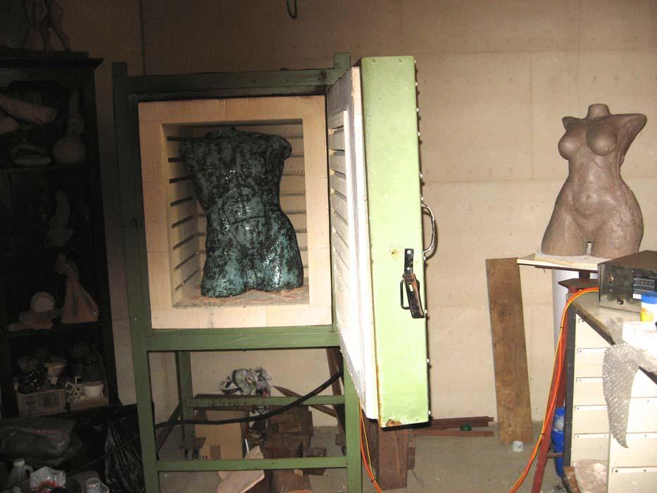 Lauren Rudd Sculptures Studio
