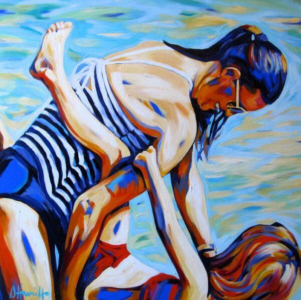 Shannon Hamilton 100X100Cm Oil On Canvas