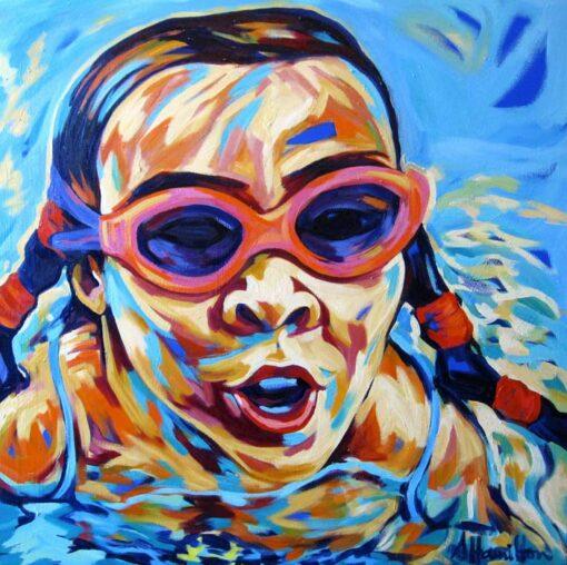 Shannon Hamilton 91x92cm Oil On Canvas