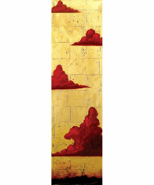 Shaun Atkinson Wallcliffe Road Series 2 Oil And Gold Leaf On Panel 185Cmx55Cm