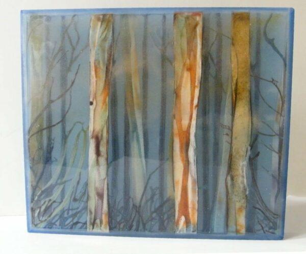 Vivienne Jagger Karri Forrest Iii Glass Panel 29X25Cm