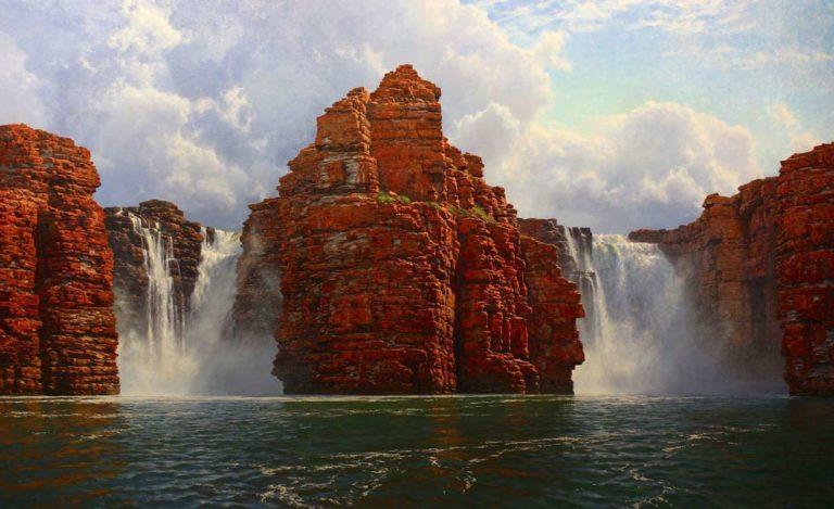 Andrew Tischler King George Falls 200x122cm frame 768x469