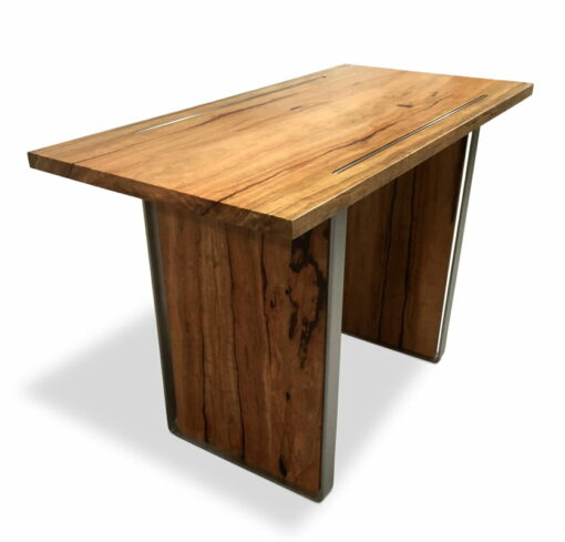 Dry Reef Marri Timber Bar Table 1600Lx780Wx1050H Side