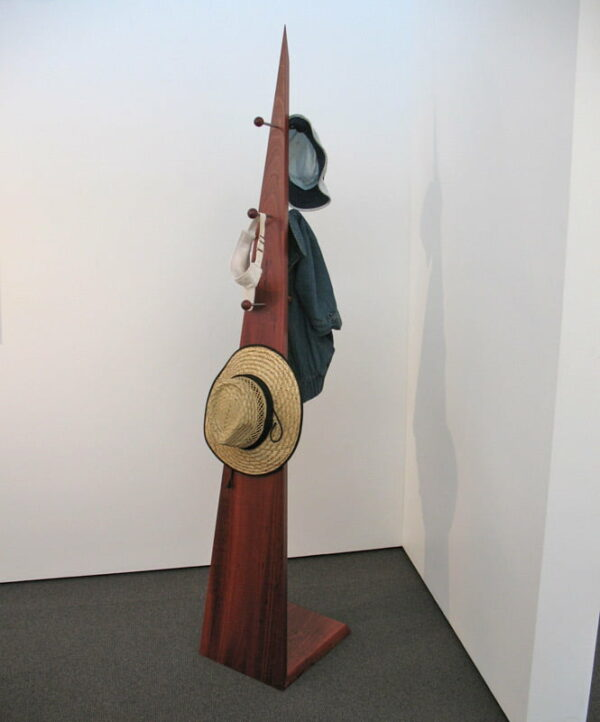 Freestanding Timber Hat Coat Rack Filled
