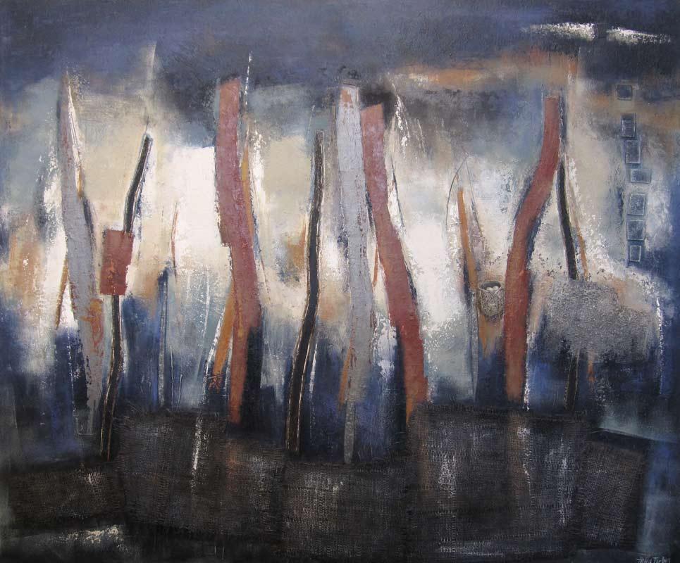 Helen Forbes   Indigo Wetlands 1 Fine Art