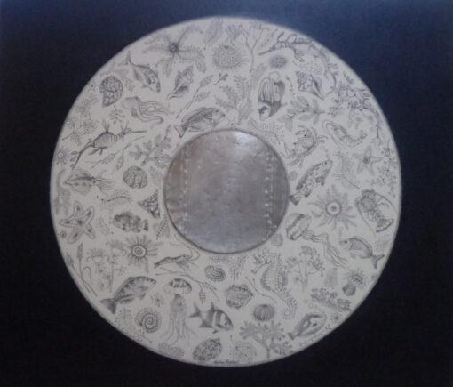 Helen Forbes Sealife Indigo 80x70cm