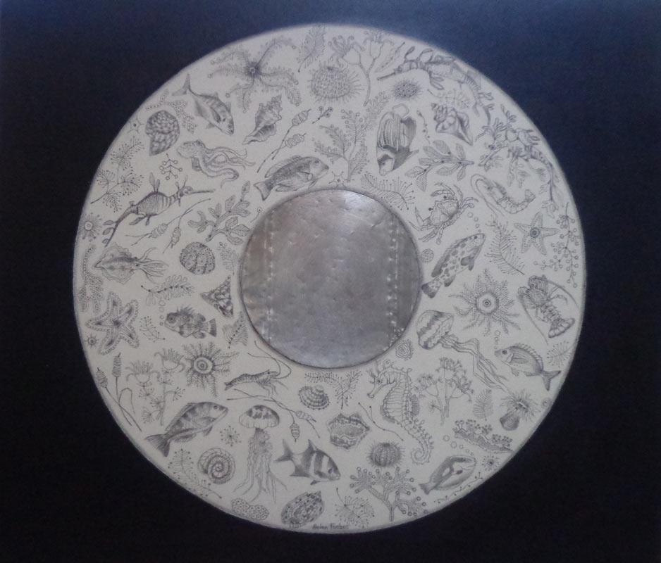 Helen Forbes   Sealife Indigo Fine Art